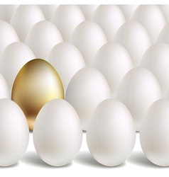 Gold Egg Concept vector image