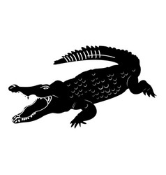isolated crocodile silhouette vector image vector image
