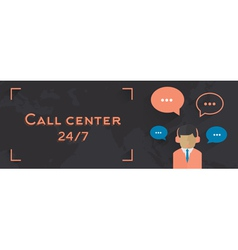 Male call center avatar man vector