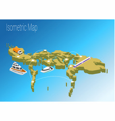 map philippines isometric concept vector image vector image