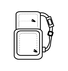 Outline packback travel bag tourist with straps vector