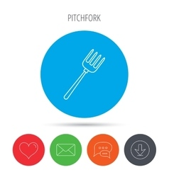Pitchfork icon agriculture sign vector