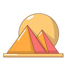 pyramid egypt icon cartoon style vector image