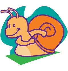 Run Snail vector image