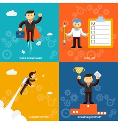 Set of businessman characters vector