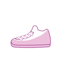 silhouette sneakers element to do exercise with vector image