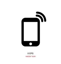 Simple smartphone icon vector