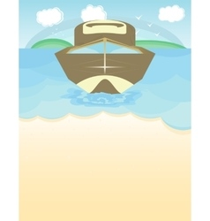 Speed boat on the blue water vector