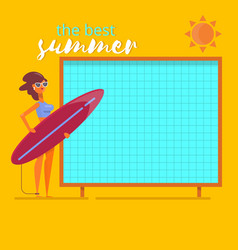 summer holidays beach background postersummertime vector image vector image