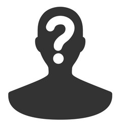 Unknown person flat icon vector