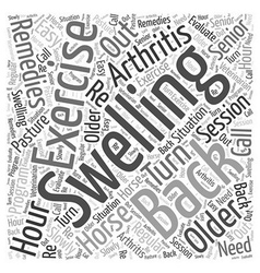 Arthritis and the older horse remedies word cloud vector