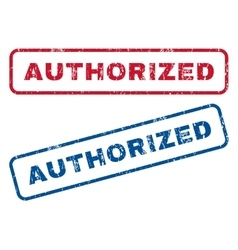 Authorized rubber stamps vector