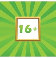 16 plus picture icon vector image
