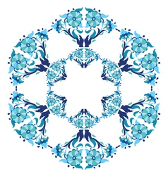 Blue ottoman serial patterns twenty five vector