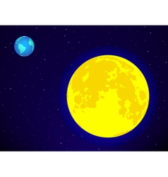 Moon and earth vector