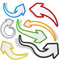 Paper arrows vector image