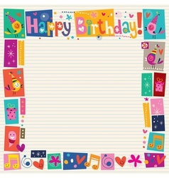 Happy birthday decorative border vector