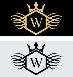 Military luxury wing logo vector