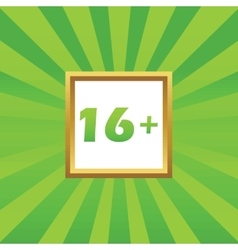 16 plus picture icon vector