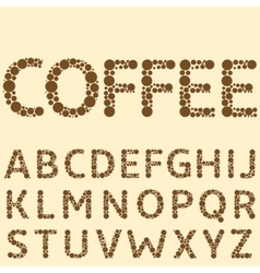 Coffee special alphabet vector