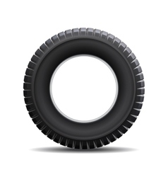 Car tire isolated on white background vector