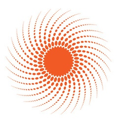 Abstract halftone sun design element vector