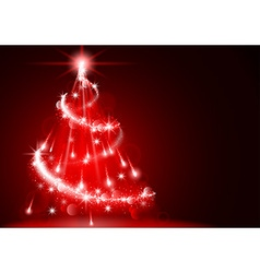 Abstract Lightning Christmas Tree vector image vector image