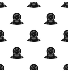 Astronaut icon in black style isolated on white vector
