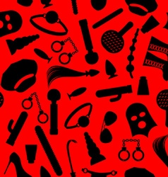 BDSM background Fetish icons seamless pattern vector image