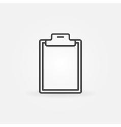 Blank clipboard line icon vector