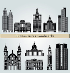 buenos aires v2 landmarks vector image vector image