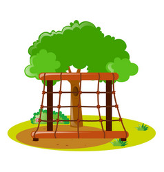 climbing station in the park vector image