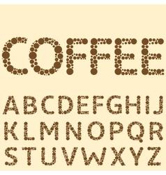 Coffee special alphabet vector image