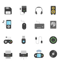 Color icon set - devices accessory vector