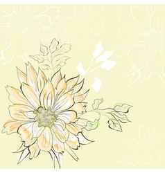 decorative background with floral element vector image vector image