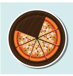 Delicious pizza design vector