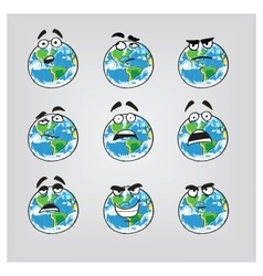 Earth emotions-part 2 vector image vector image