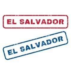 El salvador rubber stamps vector