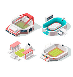 exterior of stadium buildings hockey soccer and vector image