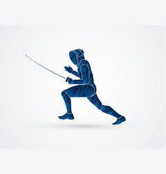 fencing ready to fight sport action vector image vector image
