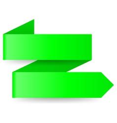 Green paper arrow vector