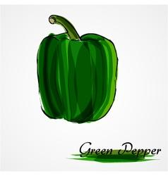 Green pepper vector