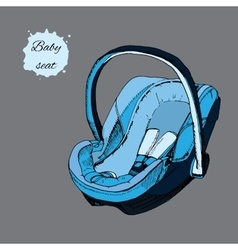 Hand drawn baby seat for infant in vector