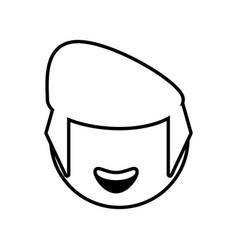 head male avatar outline vector image