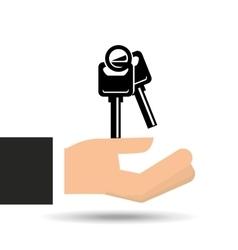 insurance car keys design icon vector image