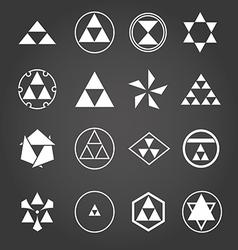 Japan religious symbols sacred geometry set vector