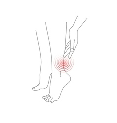 Legs feet pain vector image