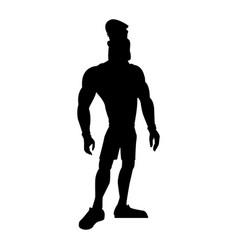 Man athletic bodybuilding sport pictogram vector