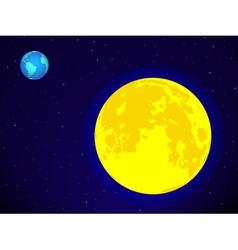 Moon and earth vector