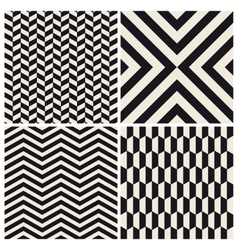 pattern background set retro vintage design vector image